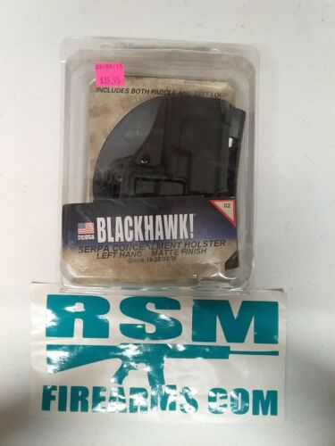 SERPA CQC Holster BLACKHAWK For Glock 19//23//32//36 Left 410502BK-L