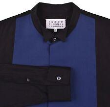 Maison Martin Margiela Black Blue Bib Front Wing Collar FC Tuxedo Style Shirt 46