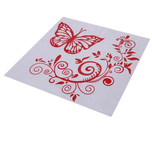 Car Sticker Butterfly Flower Pull Car Rear Wi9Lshield  Decal  Decoration Useful