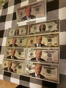 Donald-Trump-Silver-US-bill-set-Trump-envelope-1-2-5-10-20-50-100-amp-2020-bill