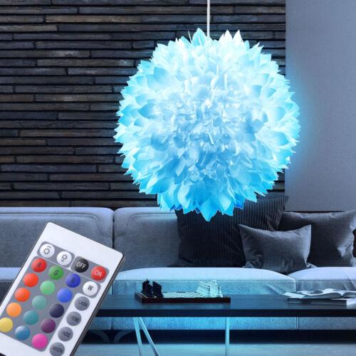 Luxe pendule Lampe RGB DEL changement de couleur Lustre 7 W fleurs de boule Ø 40 cm