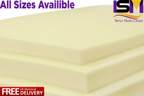 Memory Foam Cut to Size Bed top Floor Cushions Sofa Chair Dog Topper All Sizes