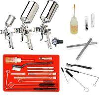 4pc Professional Hvlp Paint Gun Set Plus 23pc Spray Cleaning Kit Gravity on Sale