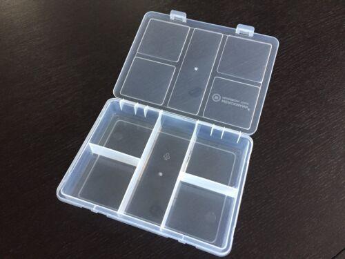 boite plastique pvc transparent a 5 compartiments fixe 20x16x3.2cm