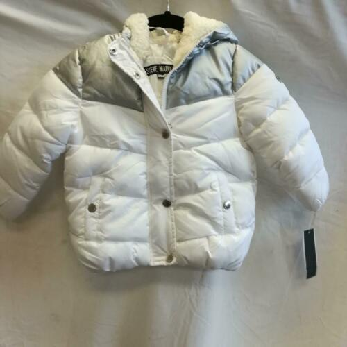 Details about  /Steve Madden baby Puffer Jacket 24 Months White//Silver