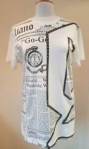 John Galliano Crest T-Shirt Underwear Black Soft Jersey UK36 /& 38 IT50 /& 52