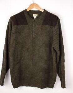 L-l-BEAN-Men-Casual-Wool-Knit-Jumper-Sweater-Size-L-ATZ928