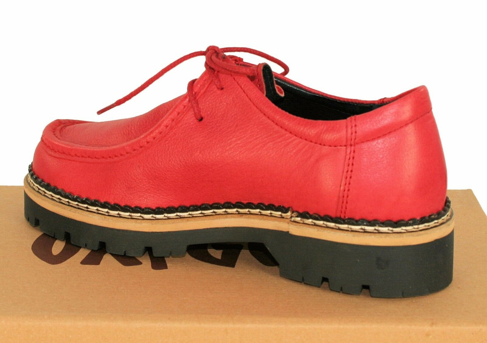 Oxygène Chunky Wallabee Lacets Chaussure Mayence rouge rouge rouge taille 36 To 41 9a6cbf