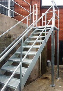 Nice Image Is Loading 2 3m High Mezzanine Staircase Steel Staircase Fire