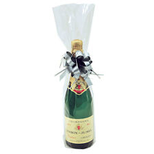 Pack of 50 Clear Cellophane Bottle Bags for Wine Champagne Bottles Gift bags