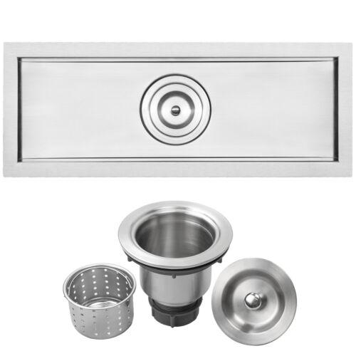 "Ticor Sinks Bradford Series 22/"" L x 8/"" W Undermount Kitchen and Bar Sink"