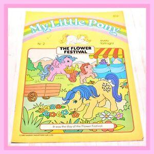 ❤️My Little Pony G1 Merchandise VTG 1985 Magazine Comic #2 The Flower Festival❤️