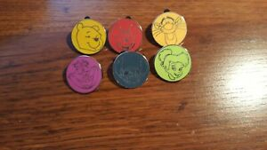6-Piece-Character-Silhouettes-Complete-Disney-Trading-Pin-Set