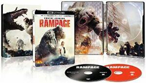 Rampage-4K-Ultra-HD-Blu-ray-Digital-Raro-STEELBOOK-Dwayne-Johnson-Rock