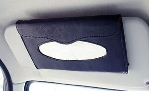 zone tech car sun visor tissue box holder paper napkin clip pu