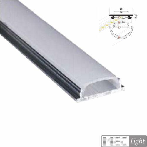 """Abdeckung 1m elastisches Profil//biegsame Leiste /""""ELA/"""" für LED Streifen//Stripes"""