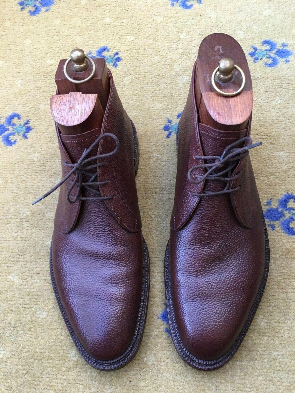 John Lobb Bespoke Para hombre Zapatos botas De Cuero Marrón nos 10.5