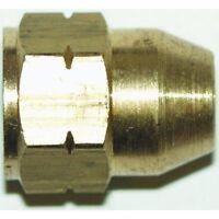 Brake Pipe Brass Union Fitting Female M10 x 1mm 3/16