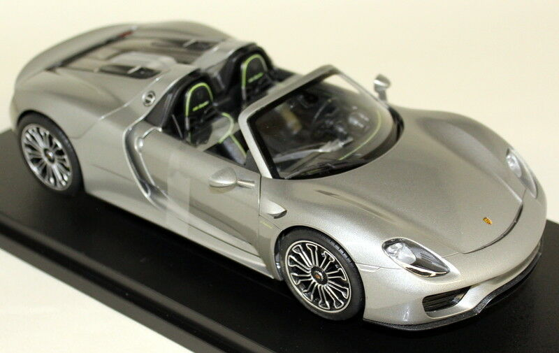 NEX 1 18 Scale 18051C Porsche 918 Spyder Open Metallic Grey Diecast model Car