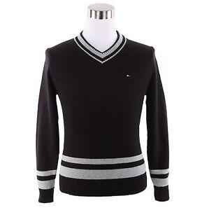 Tommy Hilfiger Men V-Neck Long Sleeve Sweater $0 Free Ship
