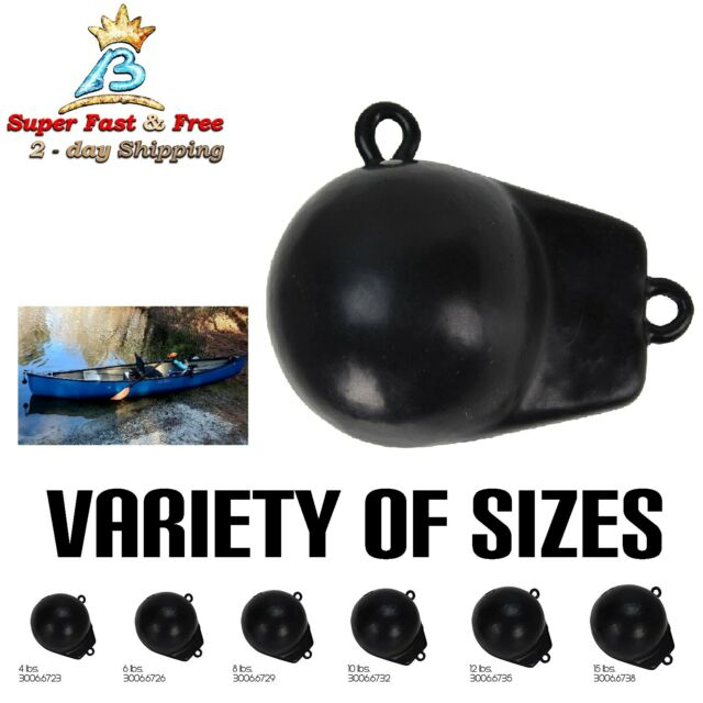 10 lb. Extreme Max 3006.6732 Black Coated Ball-with-Fin Downrigger Weight