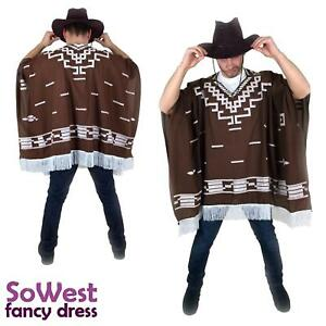 Fancy-Dress-Mexicano-Western-Salvaje-Oeste-Vaquero-Poncho-para-Clint-Eastwood-noches