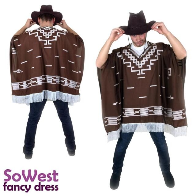 Costume Messicano Occidentale Selvaggio West Cowboy Poncho per Clint Eastwood notti