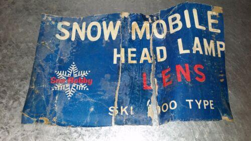 New Vintage Snowmobile headLight lens Ski Doo Type Square Glass Sno-hobby NOS