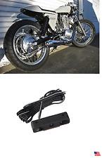 1 Chrome 3 White LED Motorcycle License Plate Screw Bolt Light Seventy-Two 48 HD