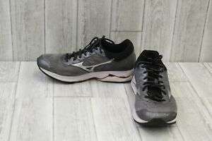 Mizuno-Men-039-s-Wave-Creation-19-Running-Shoe-Grey-White-Red-Size-10-5