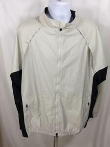 f9933101e498 NIKE Golf Men s Size XL Clima Fit White and Black Windbreaker Jacket ...