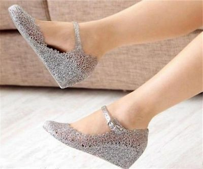 Women's Shoes Casual Sandals Soft Candy Rubber Wedge Heel Sandals High-heeled