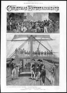 1897-Antique-Print-LONDON-Theatre-Adelphi-Black-Eyed-Susan-Actors-Ship-277