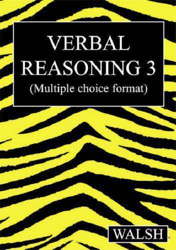 1 of 1 - Verbal Reasoning 3: Bk. 3 by Mary Walsh, Barbara Walsh | Paperback Book | 978095