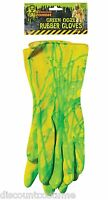 Biohazard Zombie Green Ooze Rubber Gloves Costume Accessory Fun Halloween-new