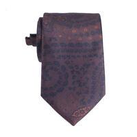 Ermenegildo Zegna Tie In Brown Black Floral Silk