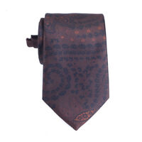 Ermenegildo Zegna Tie In Brown Black Floral Silk