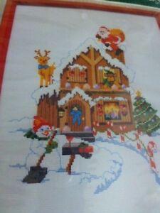Bucilla-Candy-Cane-Cottage-Cross-Stitch-Kit-49016-Christmas-Heirloom-Kit