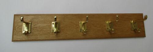 9 Größen Massiv Eichenholz Handgefertigt Wandgarderobe Hänge-haken Brett Zug 136