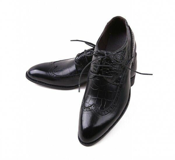 Para hombre Encaje Boda Vestido Formal Zapatos Oxford Brogue Wing Tip británico Elegante