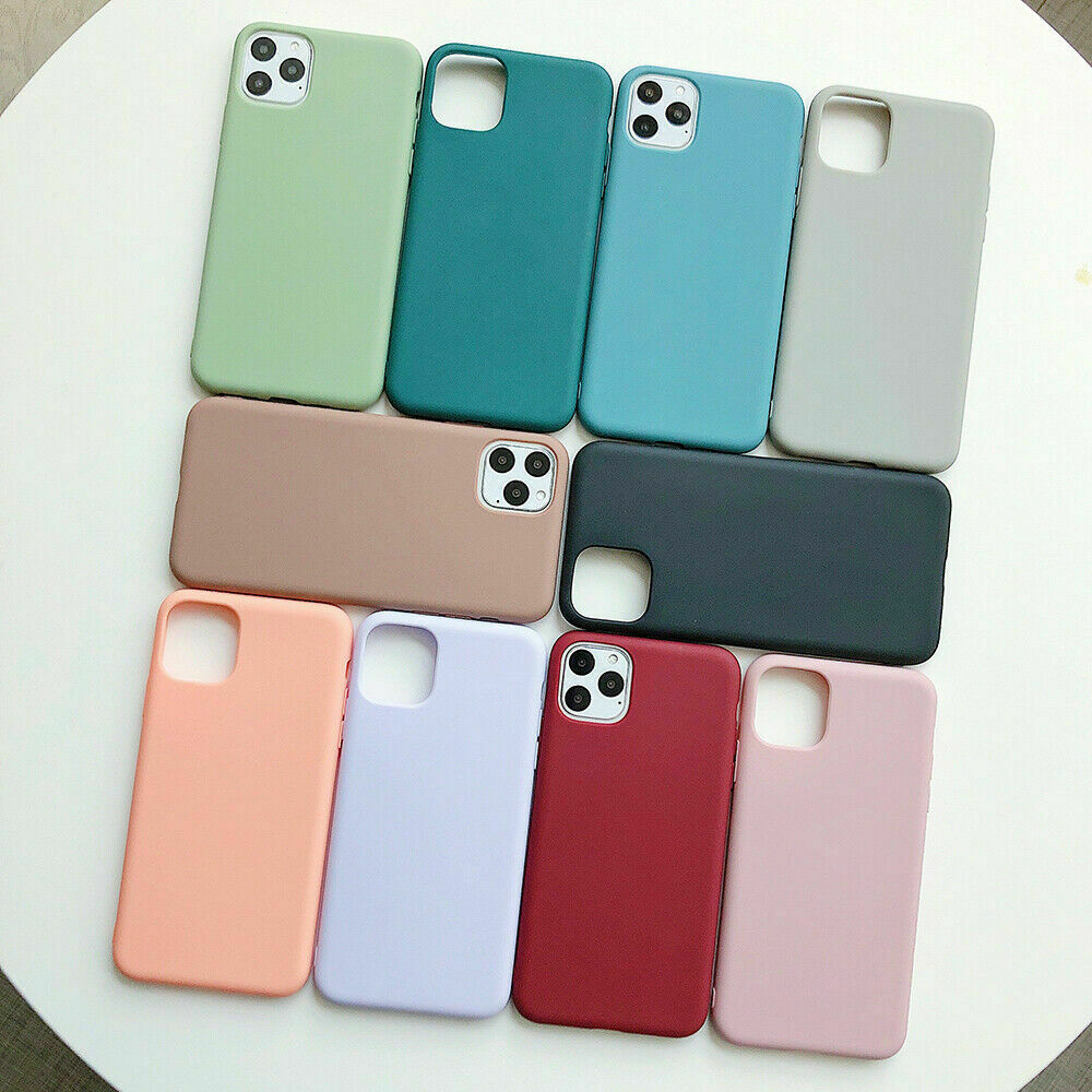 For iPhone 11 Pro Max XS Max XR X Matte Slim Soft Silicone Case Shockproof Cover
