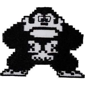 Donkey Kong Patch Iron On Sew On Embroidered Badge NES 8 Bit Video Game Applique
