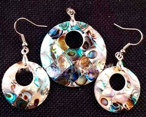 NATURAL-ABALONE-SHELL-EARRING-amp-NECKLACE-JEWELLERY-SET-FREE-UK-P-amp-P