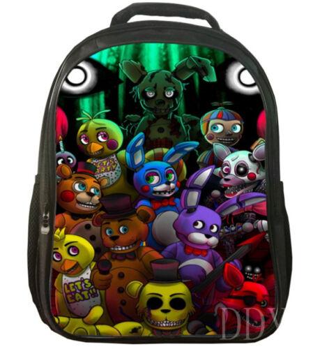 Five Nights At Freddy Backpack Boys Girls FNAF School Bags Rucksack Travel NNY