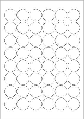 Shiny High Gloss A4 Sheets 6 Round Glossy White Circle Inkjet Printer Labels