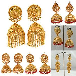 Image Is Loading Jwellmart Indian Gold Plated Traditional Ethnic Jhumka Jhumki