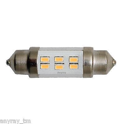 1 -Bulb 36mm High Power 6 LED Festoon Auto Bulb Warm White Dome Light 10-30V