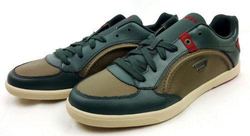 DIESEL STARCH Herren Sneaker Grün Leder Gr.42 #021