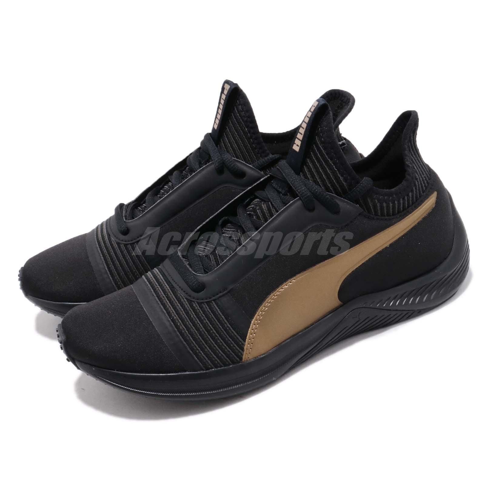 Puma Amp XT Wns noir Gold femmes Running Training Casual Chaussures Sneaker 191125-05