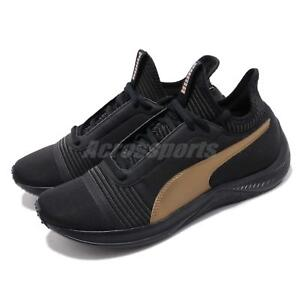 162937ef17a Puma Amp XT Wns Black Gold Women Running Training Casual Shoes ...
